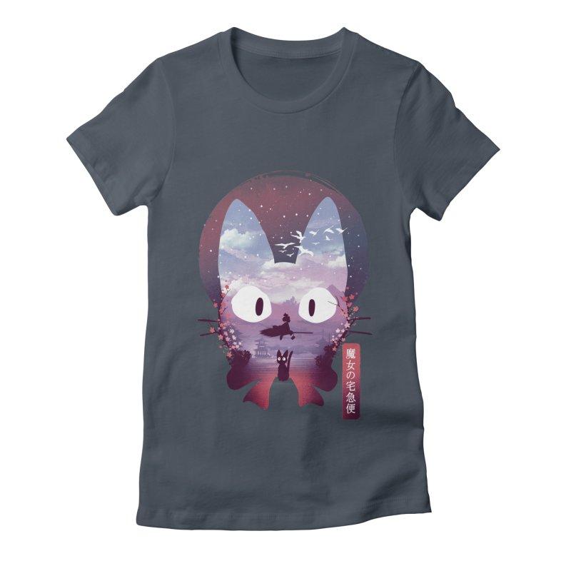Ukiyo E Midnight Delivery Women's T-Shirt by dandingeroz's Artist Shop