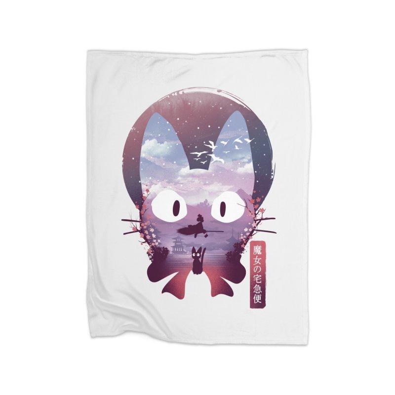 Ukiyo E Midnight Delivery Home Blanket by dandingeroz's Artist Shop