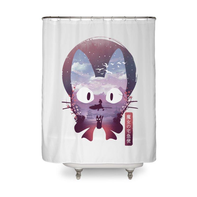 Ukiyo E Midnight Delivery Home Shower Curtain by dandingeroz's Artist Shop