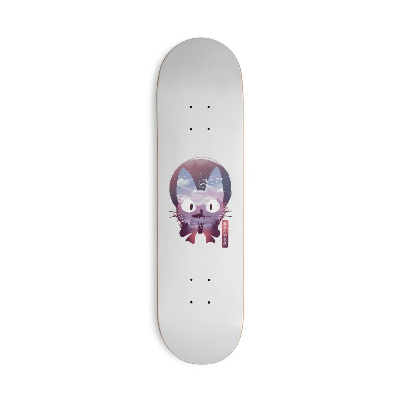 Ukiyo E Midnight Delivery Accessories Skateboard by dandingeroz's Artist Shop