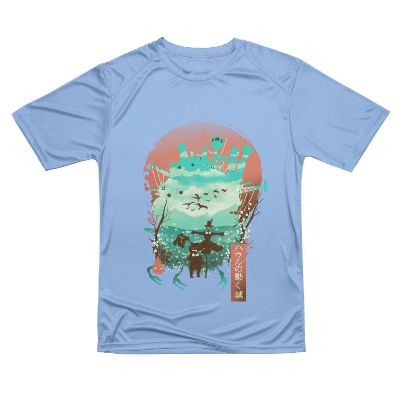 Ukiyo E Moving Castle Men's T-Shirt by dandingeroz's Artist Shop