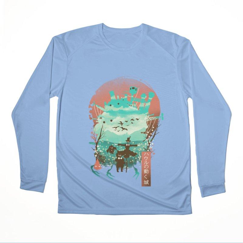 Ukiyo E Moving Castle Women's Longsleeve T-Shirt by dandingeroz's Artist Shop