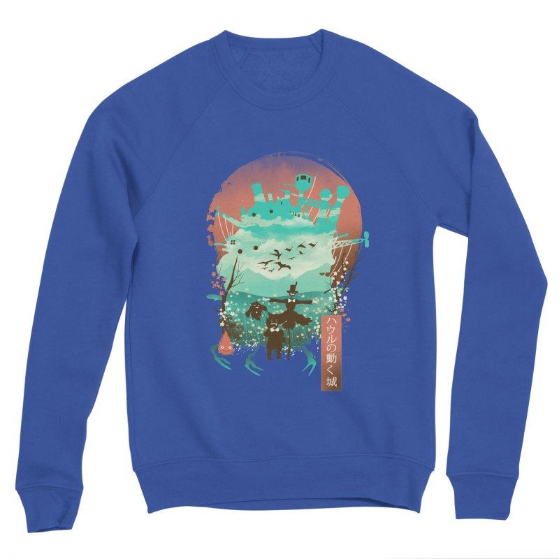 Ukiyo E Moving Castle Men's Sweatshirt by dandingeroz's Artist Shop