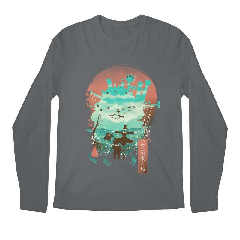 Ukiyo E Moving Castle Men's Longsleeve T-Shirt by dandingeroz's Artist Shop