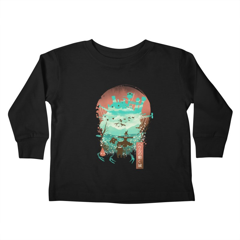 Ukiyo E Moving Castle Kids Toddler Longsleeve T-Shirt by dandingeroz's Artist Shop
