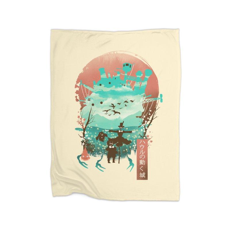 Ukiyo E Moving Castle Home Blanket by dandingeroz's Artist Shop