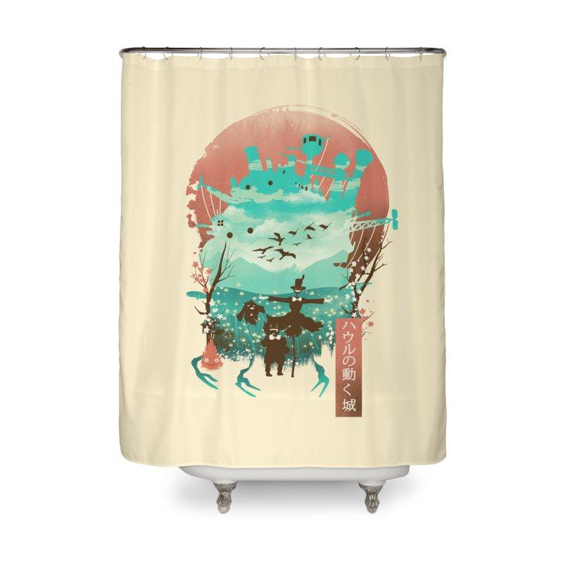 Ukiyo E Moving Castle Home Shower Curtain by dandingeroz's Artist Shop