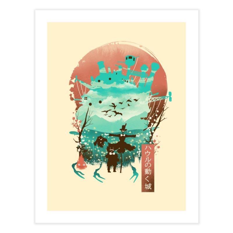 Ukiyo E Moving Castle Home Fine Art Print by dandingeroz's Artist Shop