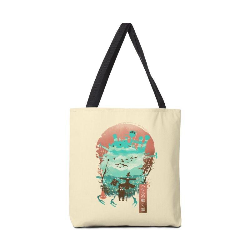 Ukiyo E Moving Castle Accessories Bag by dandingeroz's Artist Shop