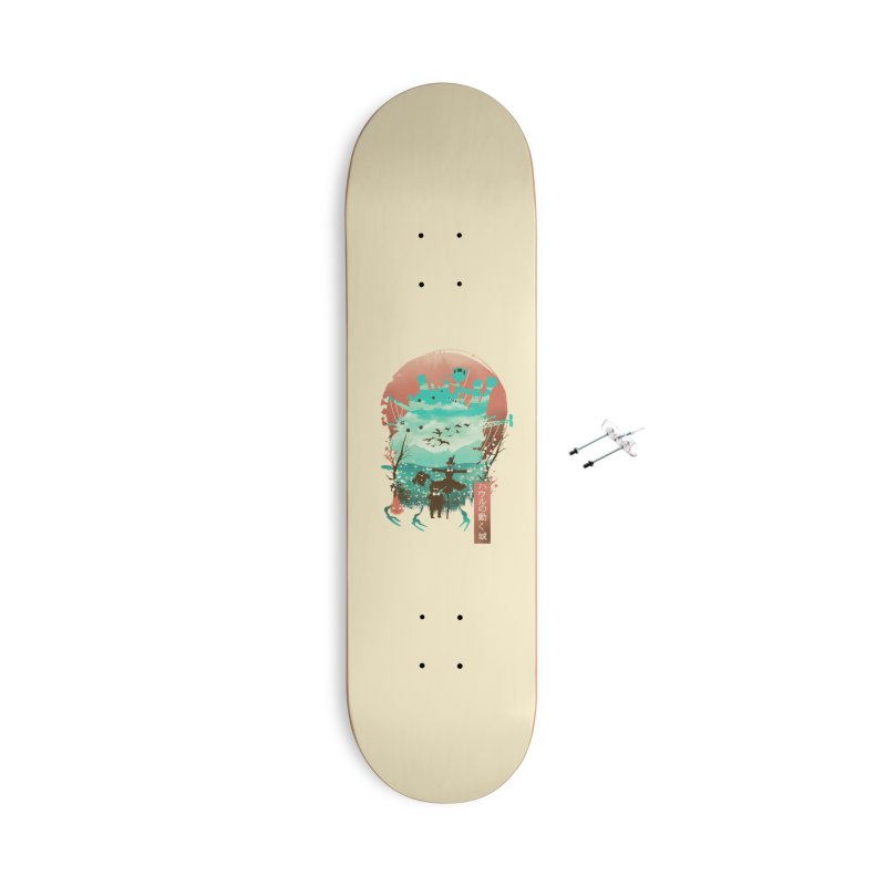 Ukiyo E Moving Castle Accessories Skateboard by dandingeroz's Artist Shop