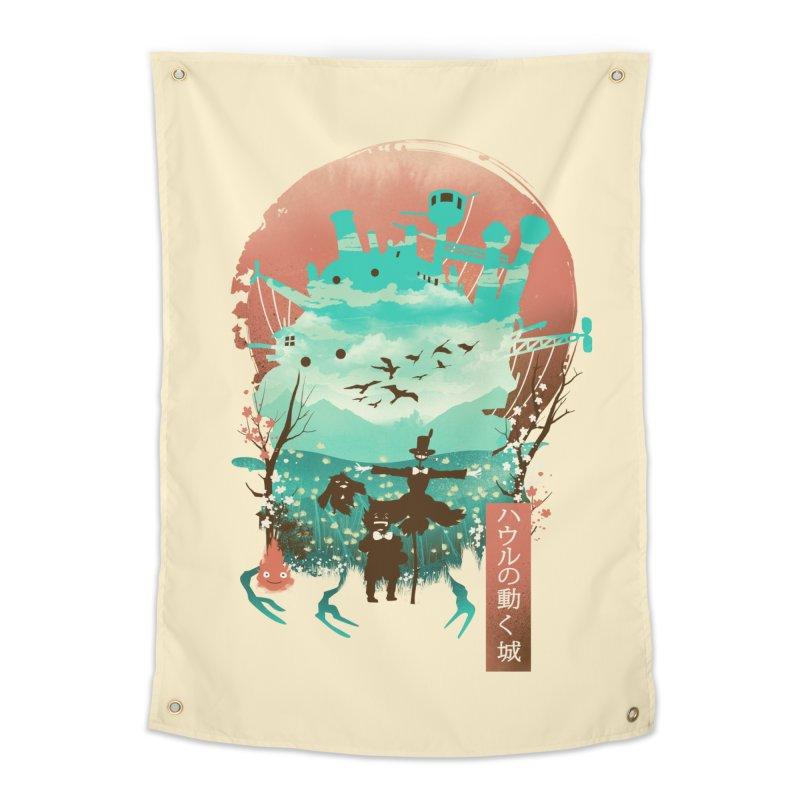 Ukiyo E Moving Castle Home Tapestry by dandingeroz's Artist Shop