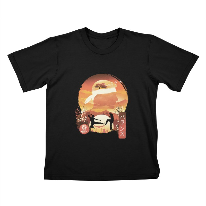 Miyagi-Do Sunset Kids T-Shirt by dandingeroz's Artist Shop