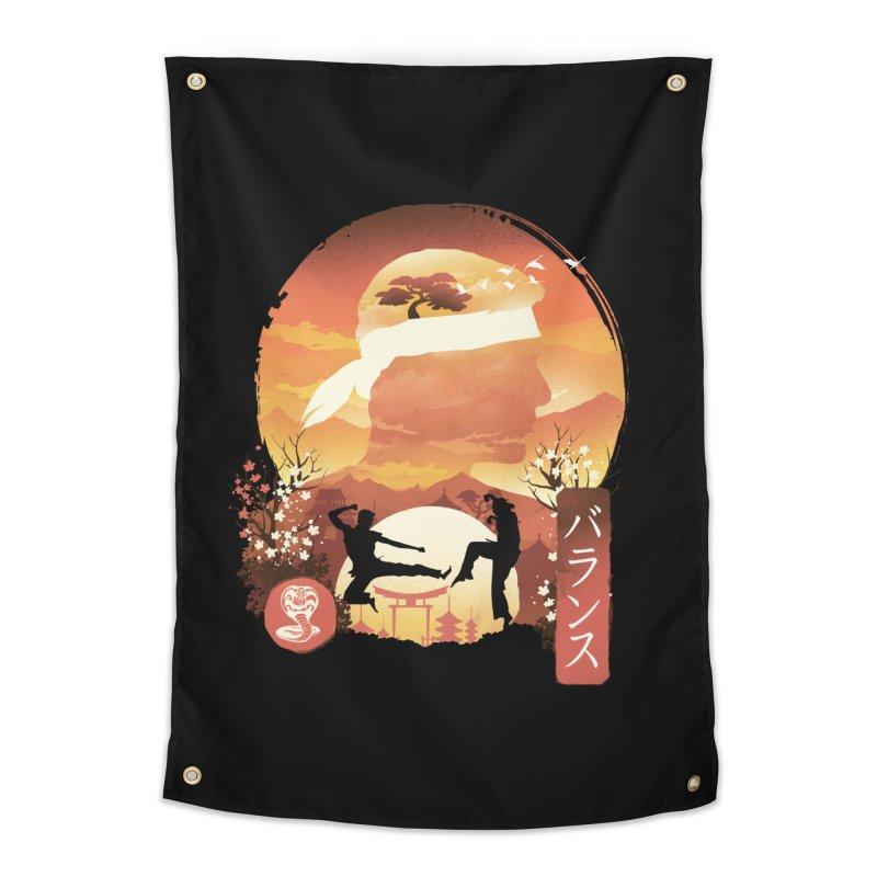 Miyagi-Do Sunset Home Tapestry by dandingeroz's Artist Shop