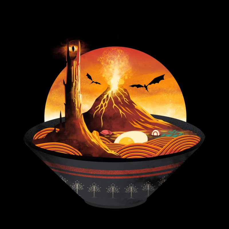 Spicy Mordor Ramen Women's T-Shirt by dandingeroz's Artist Shop