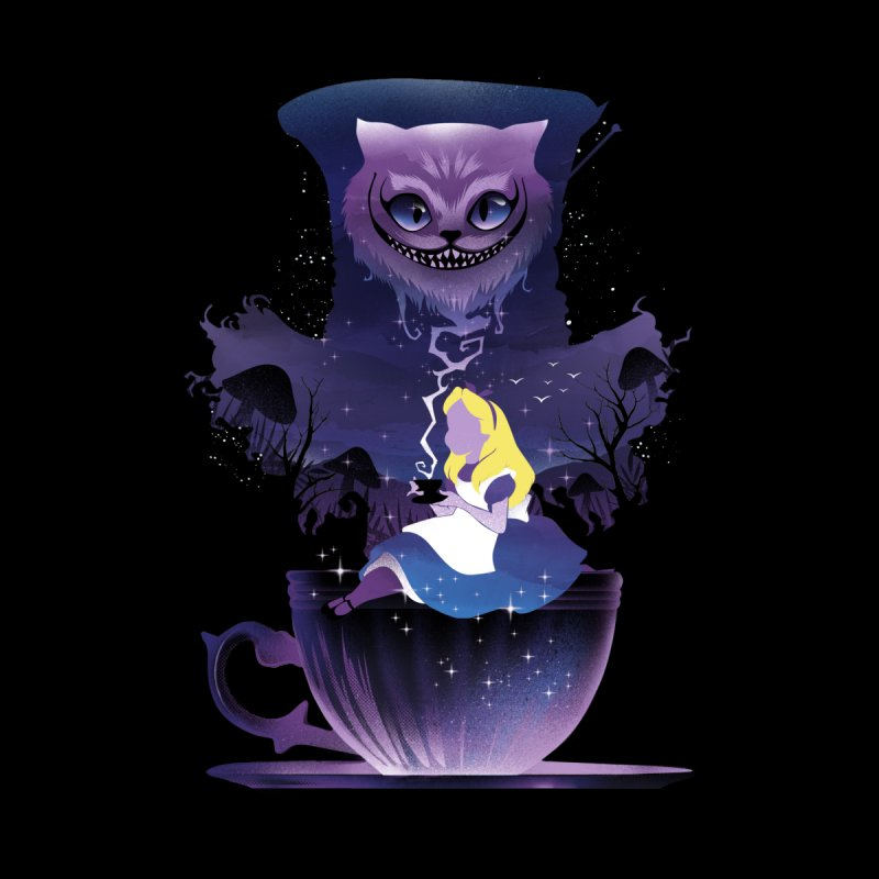 Midnight Tea Party Women's T-Shirt by dandingeroz's Artist Shop