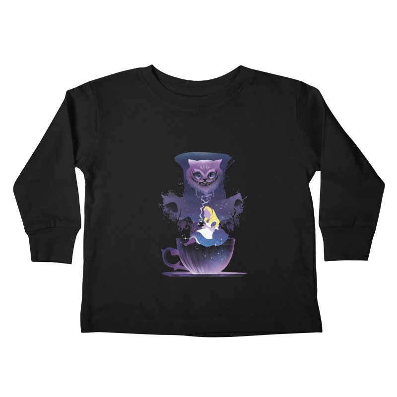 Midnight Tea Party Kids Toddler Longsleeve T-Shirt by dandingeroz's Artist Shop