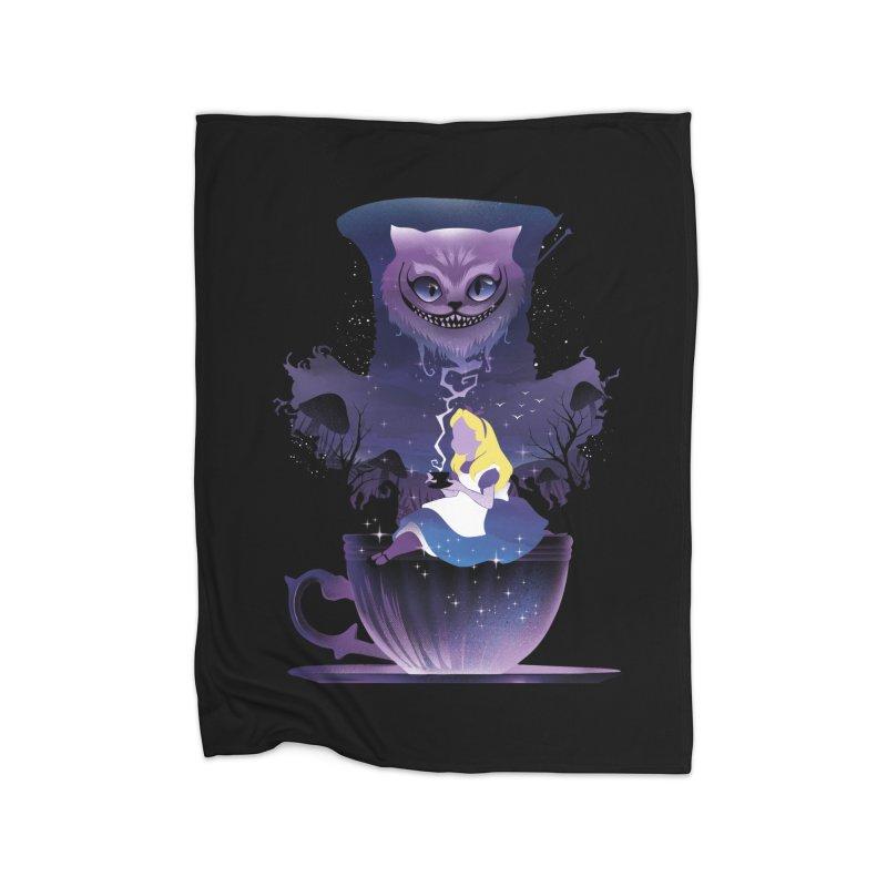 Midnight Tea Party Home Blanket by dandingeroz's Artist Shop