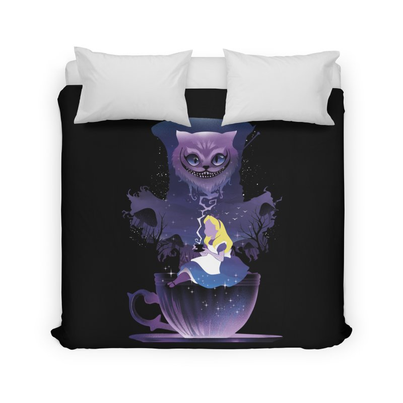 Midnight Tea Party Home Duvet by dandingeroz's Artist Shop