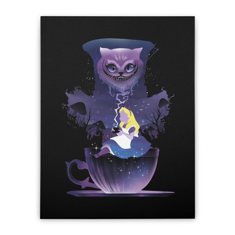 Midnight Tea Party Home Stretched Canvas by dandingeroz's Artist Shop
