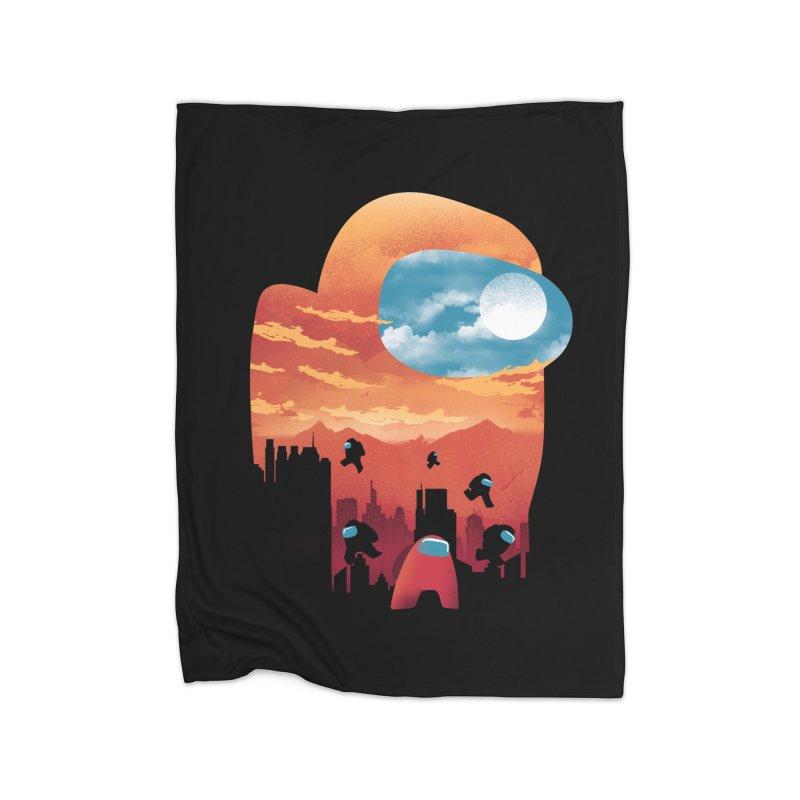 Imposter Sunset Home Blanket by dandingeroz's Artist Shop