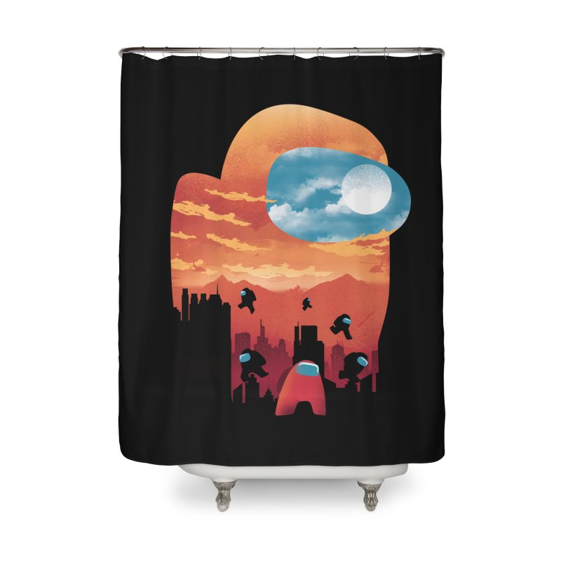 Imposter Sunset Home Shower Curtain by dandingeroz's Artist Shop