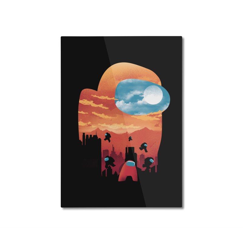 Imposter Sunset Home Mounted Aluminum Print by dandingeroz's Artist Shop