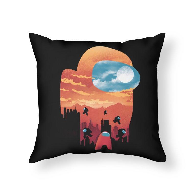Imposter Sunset Home Throw Pillow by dandingeroz's Artist Shop