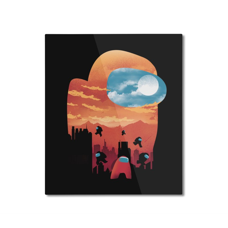 Imposter Sunset Home Mounted Aluminum Print by dandingeroz's Artist Shop