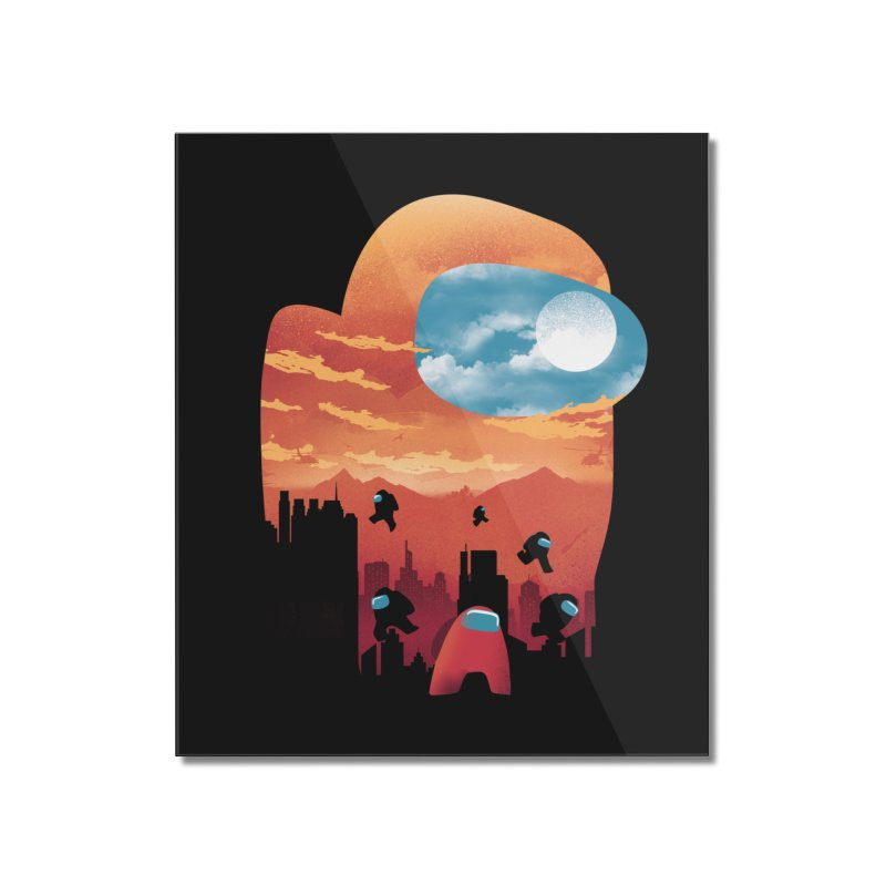 Imposter Sunset Home Mounted Acrylic Print by dandingeroz's Artist Shop