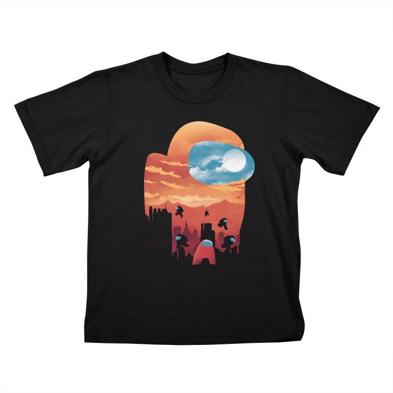 Imposter Sunset Kids T-Shirt by dandingeroz's Artist Shop