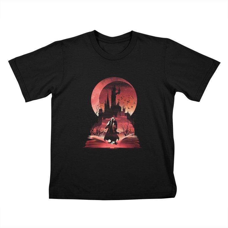 Book of Dracula Kids T-Shirt by dandingeroz's Artist Shop