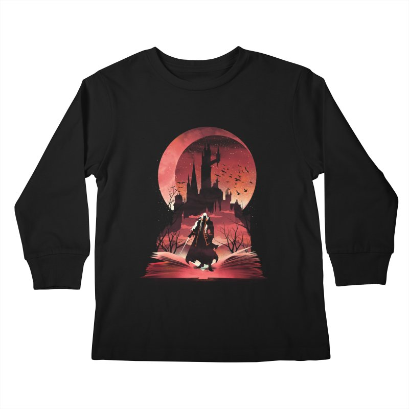 Book of Dracula Kids Longsleeve T-Shirt by dandingeroz's Artist Shop
