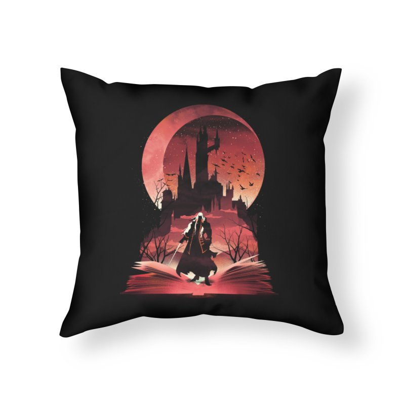 Book of Dracula Home Throw Pillow by dandingeroz's Artist Shop