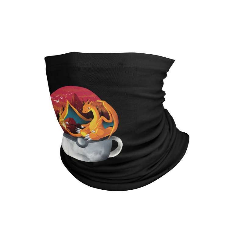 Coffeemon Fire Accessories Neck Gaiter by dandingeroz's Artist Shop