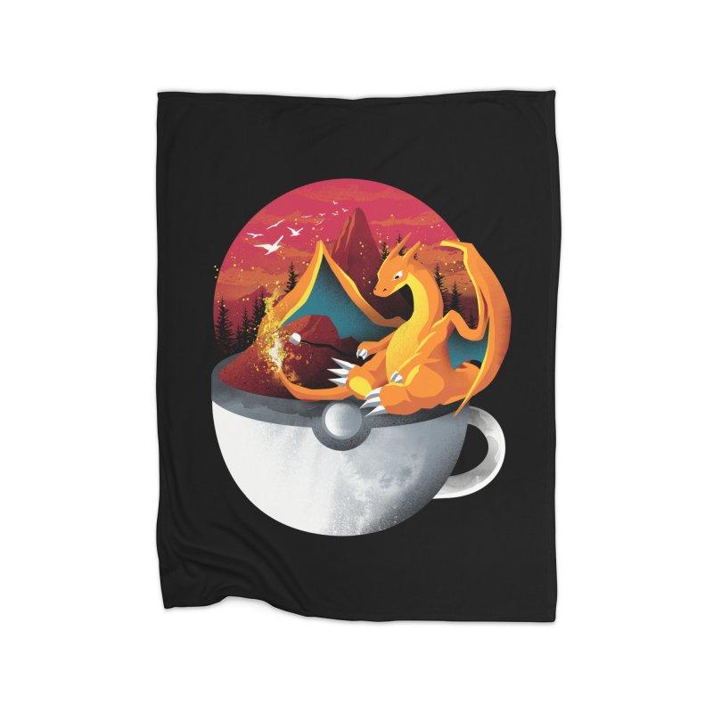 Coffeemon Fire Home Blanket by dandingeroz's Artist Shop