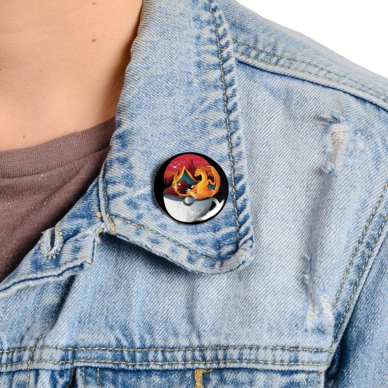 Coffeemon Fire Accessories Button by dandingeroz's Artist Shop