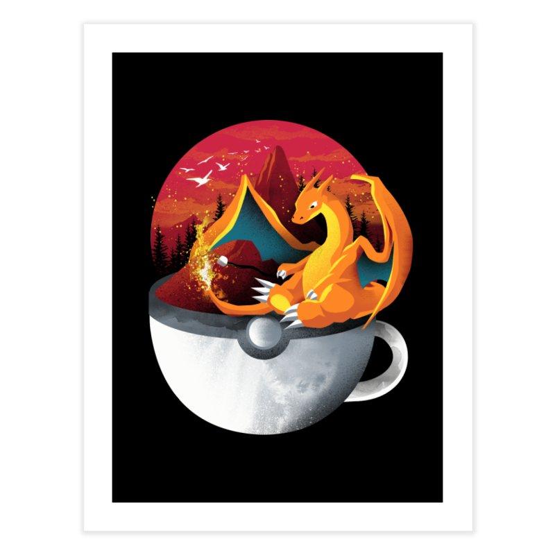Coffeemon Fire Home Fine Art Print by dandingeroz's Artist Shop