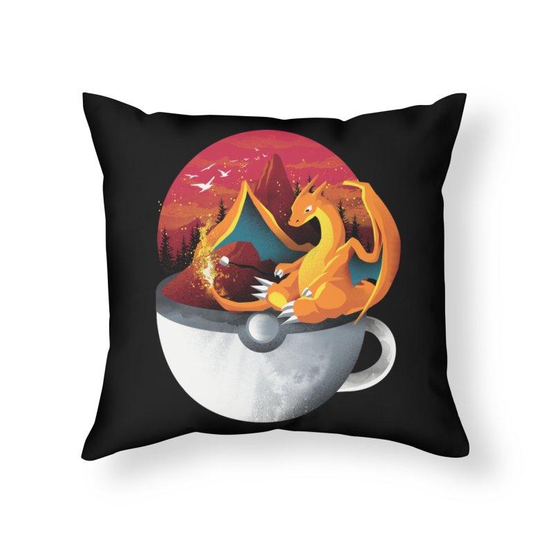 Coffeemon Fire Home Throw Pillow by dandingeroz's Artist Shop