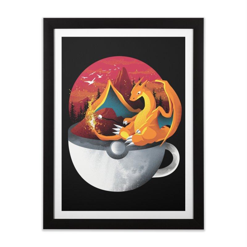 Coffeemon Fire Home Framed Fine Art Print by dandingeroz's Artist Shop