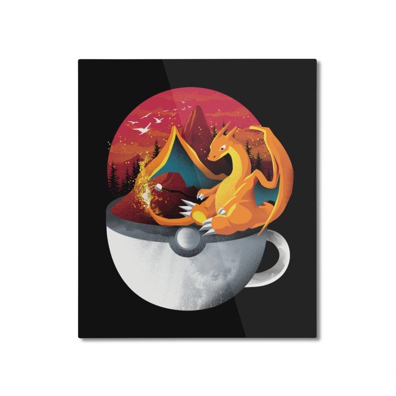 Coffeemon Fire Home Mounted Aluminum Print by dandingeroz's Artist Shop