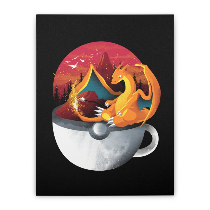 Coffeemon Fire Home Stretched Canvas by dandingeroz's Artist Shop