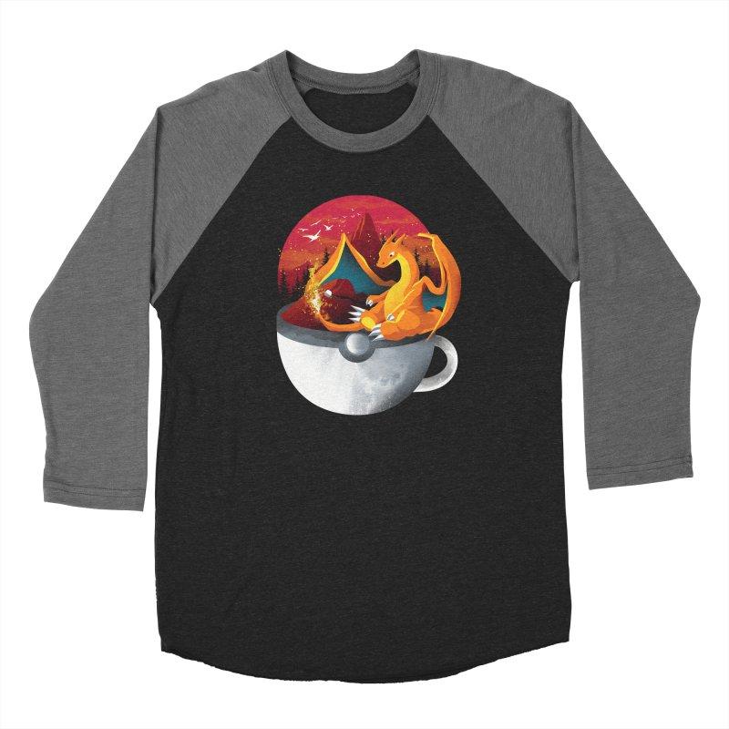 Coffeemon Fire Women's Longsleeve T-Shirt by dandingeroz's Artist Shop
