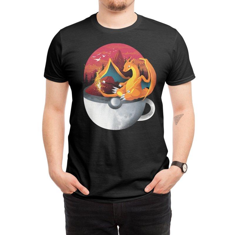 Coffeemon Fire Men's T-Shirt by dandingeroz's Artist Shop