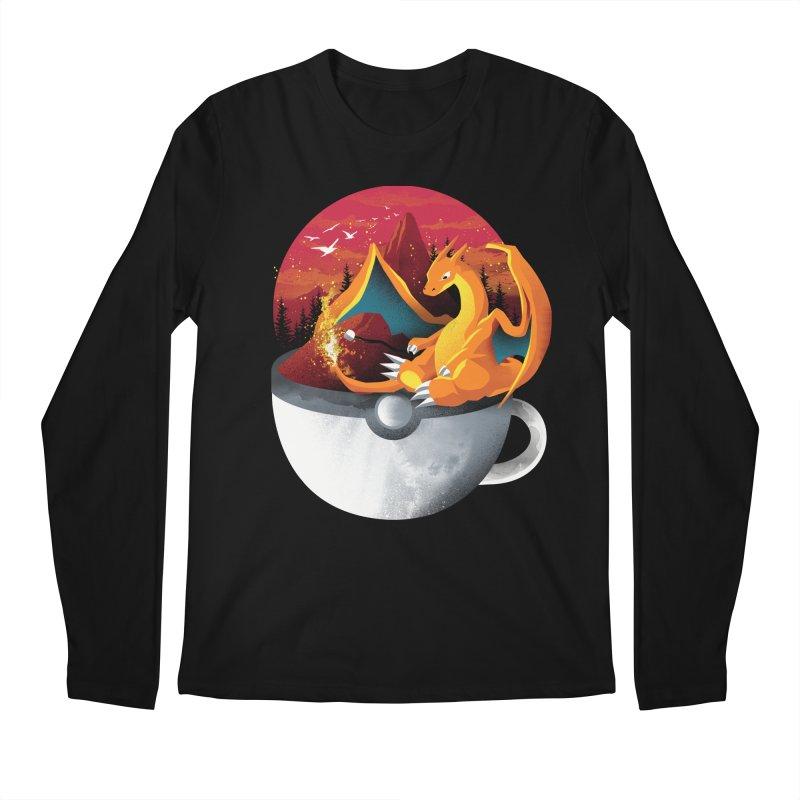 Coffeemon Fire Men's Longsleeve T-Shirt by dandingeroz's Artist Shop