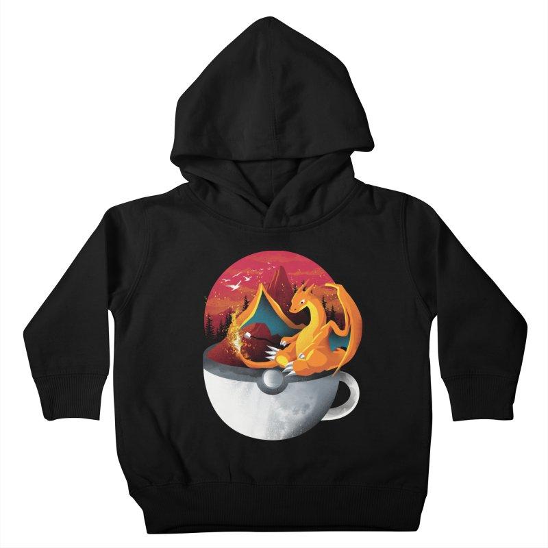 Coffeemon Fire Kids Toddler Pullover Hoody by dandingeroz's Artist Shop