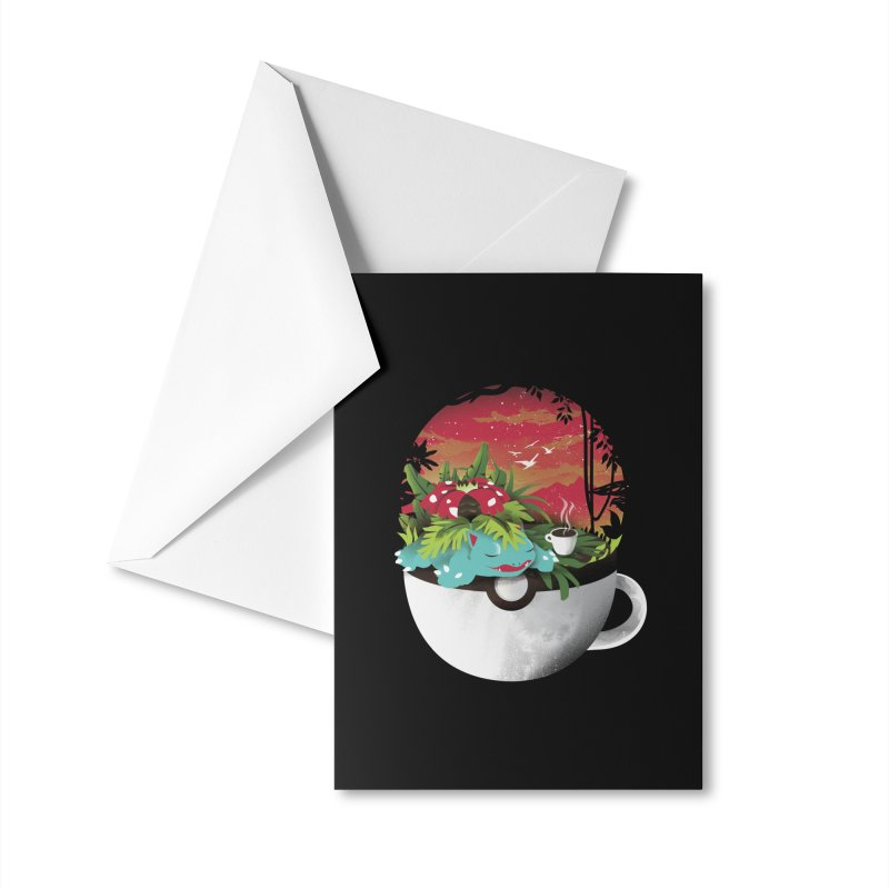 Coffeemon Grass Accessories Greeting Card by dandingeroz's Artist Shop
