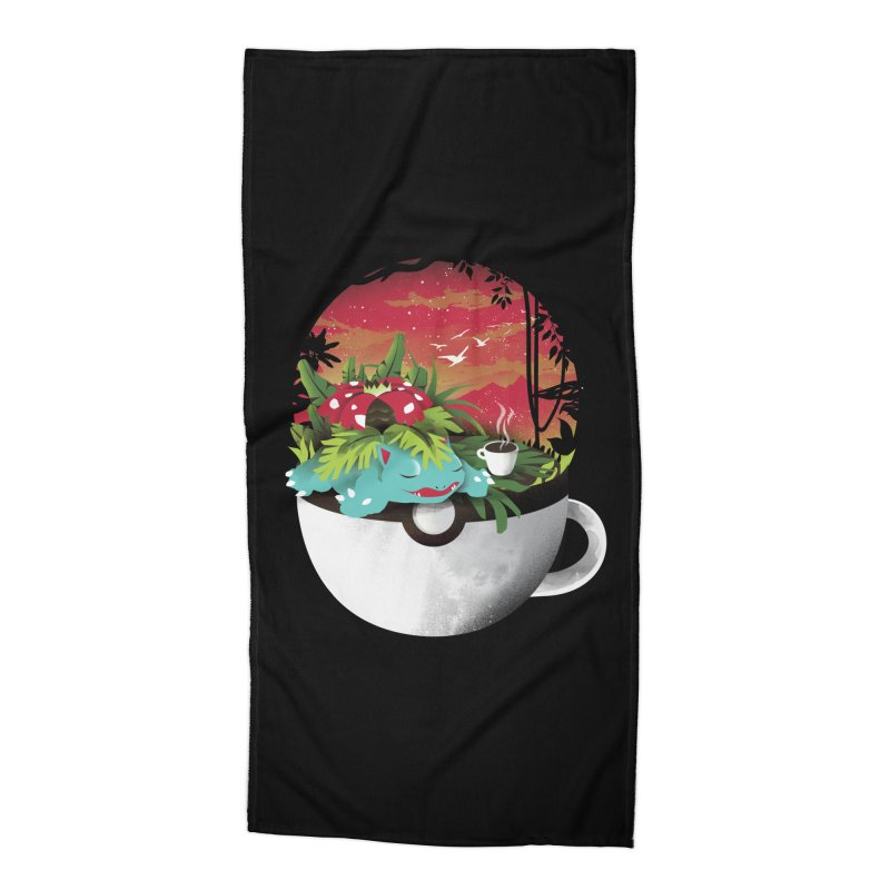 Coffeemon Grass Accessories Beach Towel by dandingeroz's Artist Shop