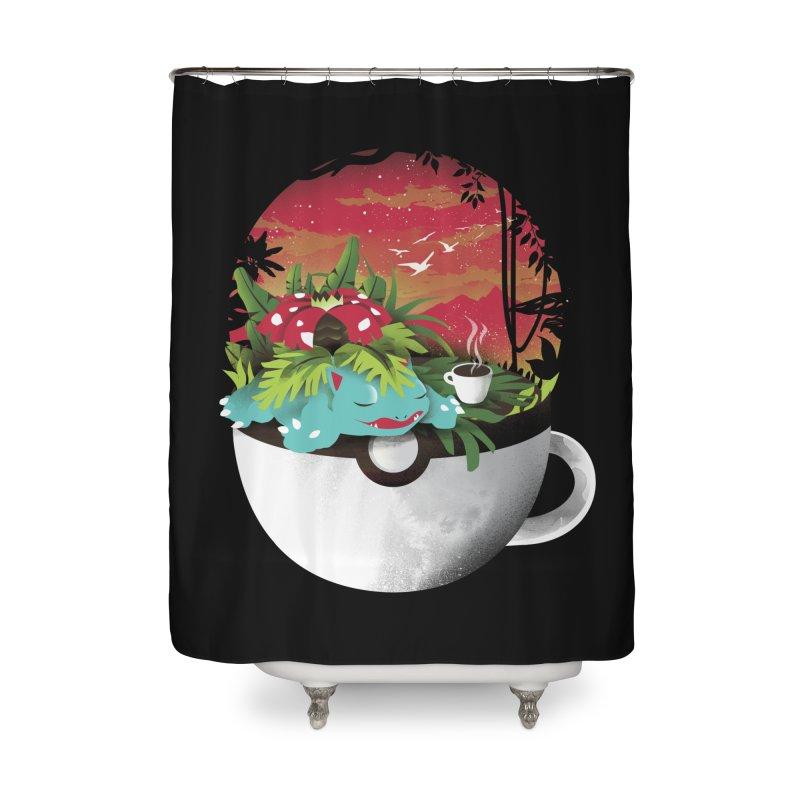 Coffeemon Grass Home Shower Curtain by dandingeroz's Artist Shop