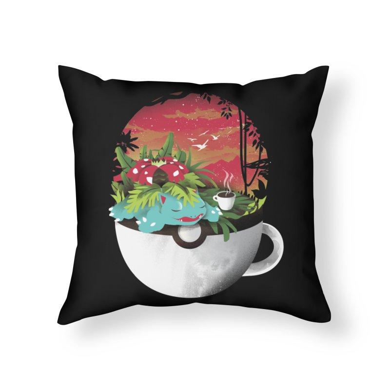 Coffeemon Grass Home Throw Pillow by dandingeroz's Artist Shop