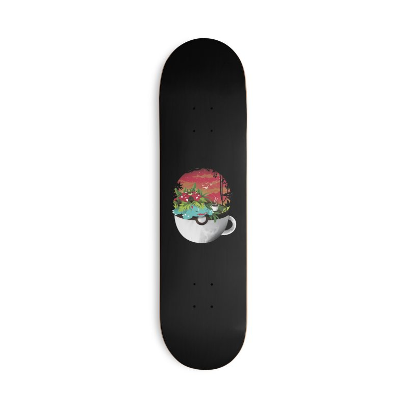 Coffeemon Grass Accessories Skateboard by dandingeroz's Artist Shop